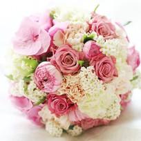 [FL77] Peach Pink Bridal Bouquet