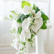 [FL49] Pure White Shower Bouquet