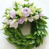 2011년 플로리스트 6월호 잡지 - Floral Tribute/Wreath(Crescent Style)