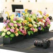 캐논 플렉스 카메라 시연 행사 플라워 데코 Table Centerpiece