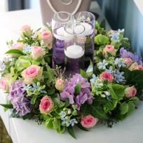 2016년 플로리스트 9월호 잡지- Candle Table Centerpiece Wreath